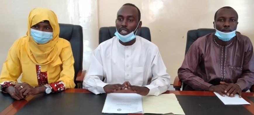 Quelques membres du bureau exécutif du Conseil National des Jeunes du Tchad.