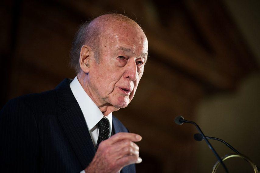 Valéry Giscard d'Estaing en 2014, lors d'une conférence à Munich. (©Tobias Kleinschmidt/Creative commons)