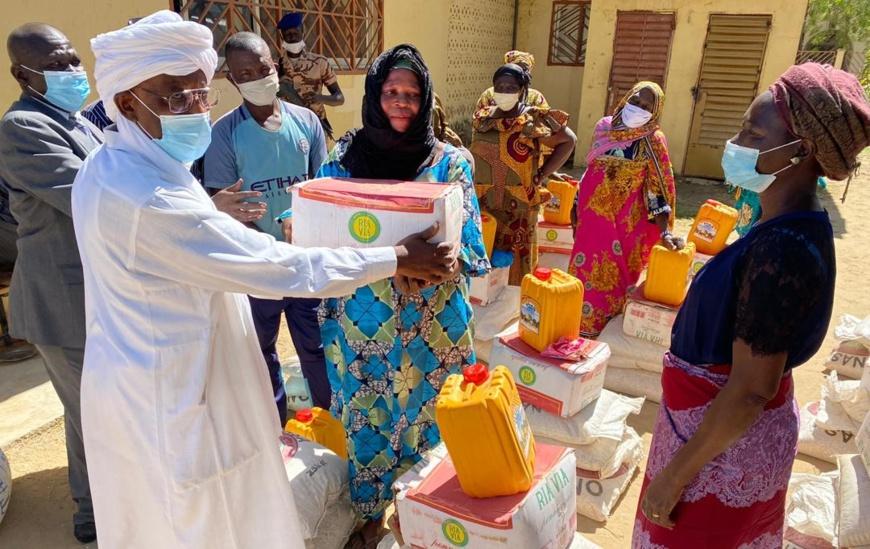 Tchad : L'ONASA remet des produits alimentaires aux sinistrés de Ndjamena