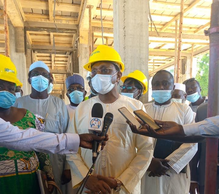 Tchad : le chantier de construction du siège de l'ATPE a repris à N'Djamena. © Min.Com