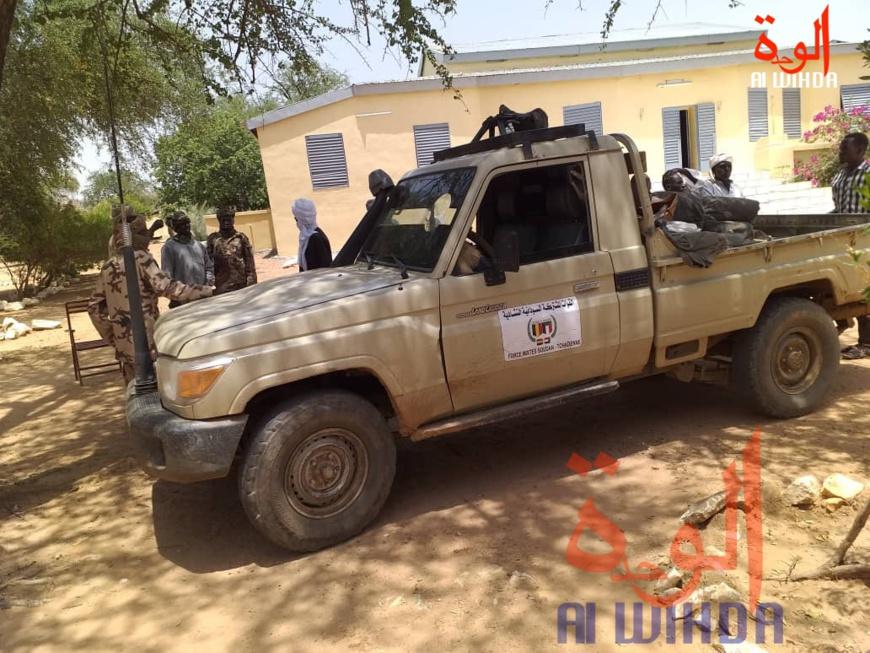 Un véhicule de la force mixte Tchad-Soudan. © Mahamat Issa Gadaya/Alwihda Info