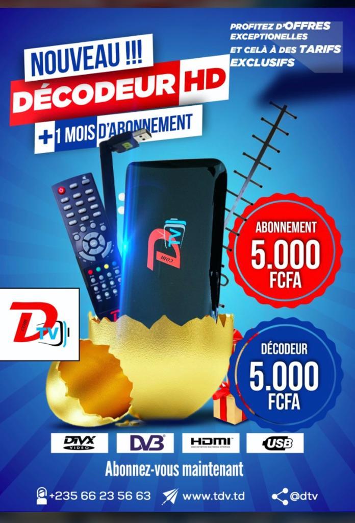 Tchad : D-TV annonce des offres sur ses abonnements et décodeurs TV