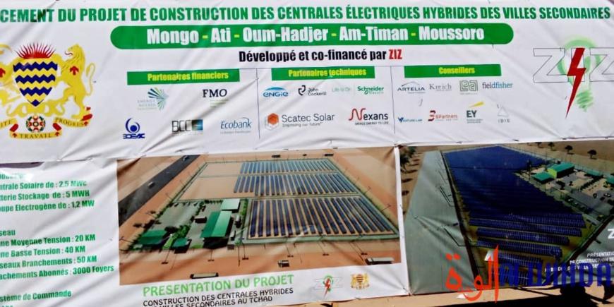 Tchad : la construction d'une centrale électrique hybride lancée à Mongo