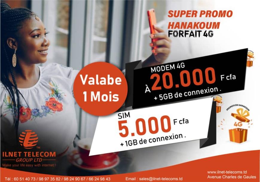 Tchad : ILNET TELECOM annonce des promotions de fin d'année sur ses offres