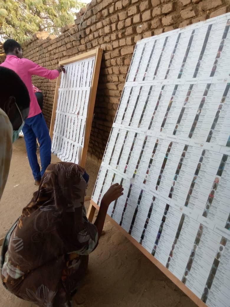 Tchad : les listes électorales provisoires affichées en province