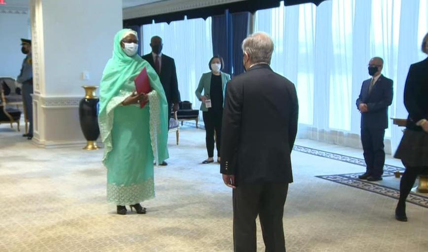Diplomatie : la nouvelle représentante du Tchad à l'ONU présente ses lettres de créance