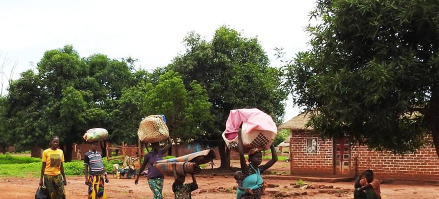 Des déplacements de population en République centrafricaine. Illustration © OCHA RCA