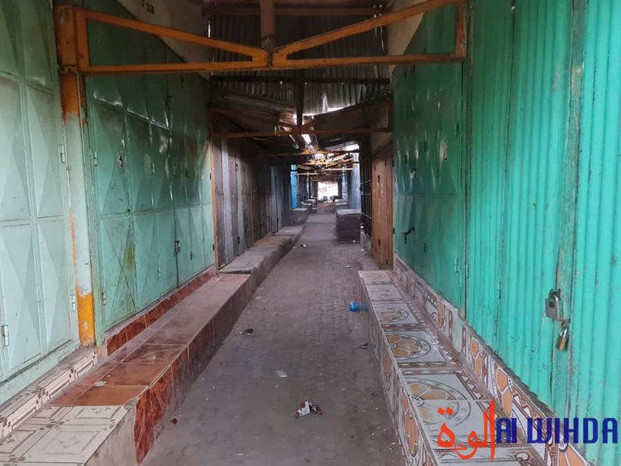 Tchad : des commerces à l'arrêt dans les marchés de N'Djamena suite au confinement