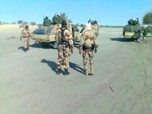 Des soldats tchadiens. Crédits photos : Sources
