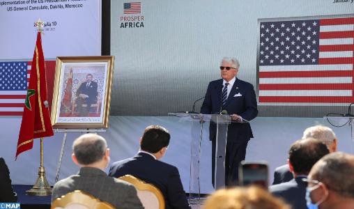Visite d'une délégation américaine à Dakhla : un appui au processus d'ouverture d'un consulat. ©MAP