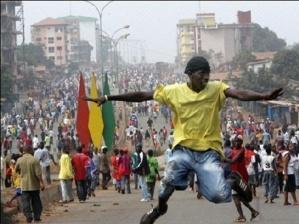 Des manifestants en Guinée. Crédits photos : Sources