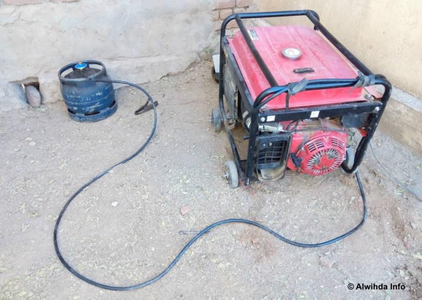 Un groupe électrogène fonctionnant au gaz butane à l'Est du Tchad. © Abba Issa/Alwihda Info