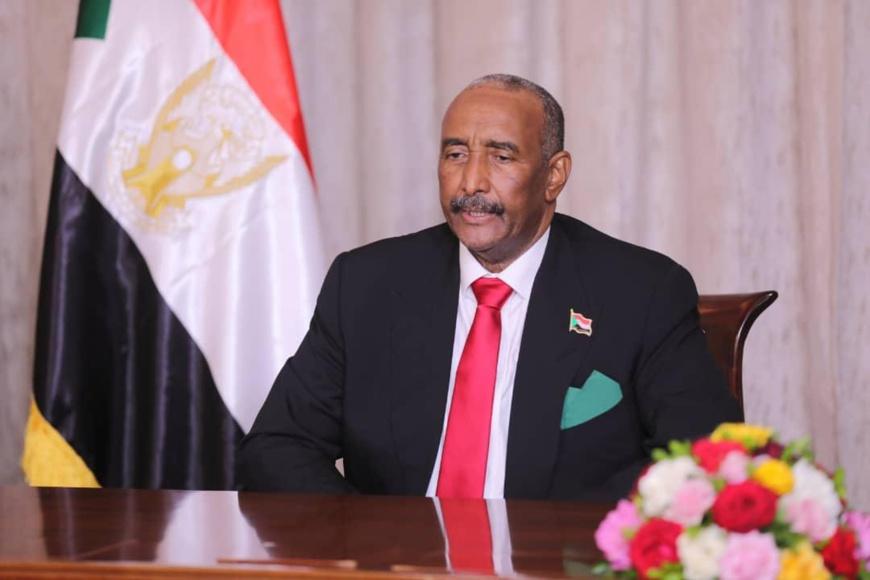 Le chef du Conseil de souveraineté de transition, le lieutenant-général, Abdul Fattah Al-Burhan. ©SUNA