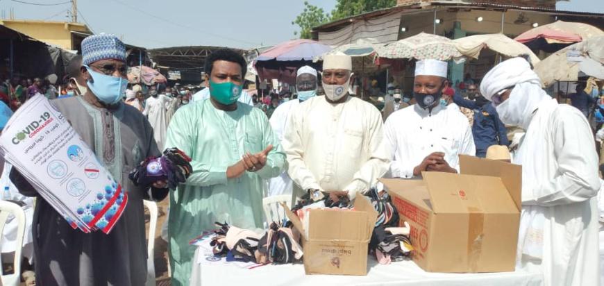 Tchad : la CCIAMA renforce la sensibilisation dans les marchés de N'Djamena. © Malick Mahamat/Alwihda Info