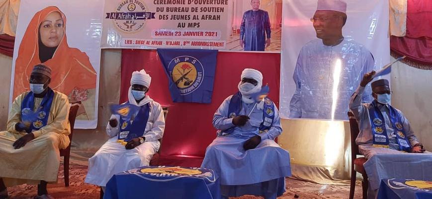 N'Djamena : le Bureau de soutien des jeunes Al-Afrah au MPS installe ses membres