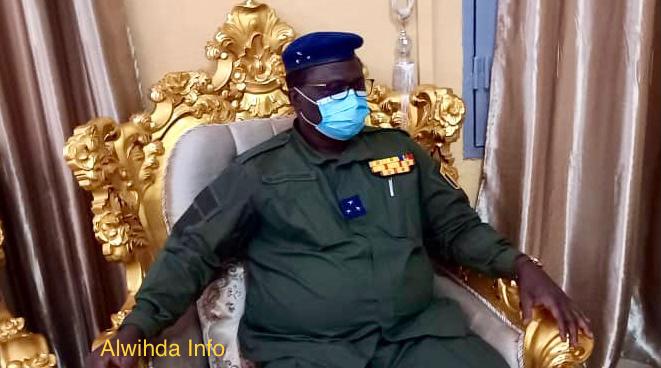 Le directeur général de la Gendarmerie nationale, le général de division Djontan Marcel Hoïnati. © Mahamat Issa Gadaya/Alwihda Info