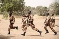 Des soldats tchadiens lors d'un entraînement. Crédits photos : Sources