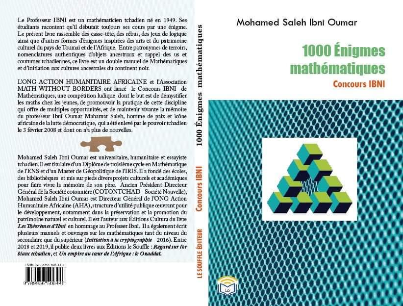 Tchad : parution d'un ouvrage d'énigmes mathématiques à la mémoire du Pr. Ibni Oumar
