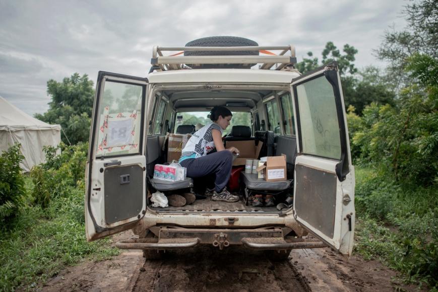 Une ambulance de MSF. Illustration. Crédits : Luca Sola