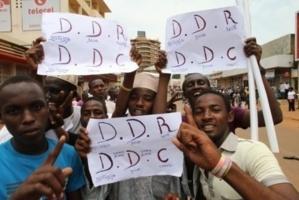 Des partisans du nouveau pouvoir à Bangui. Crédits photos : Diaspora média