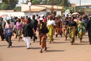 Décembre 2012. Manifestation à Bangui contre la Séléka. Crédits photos : Diaspora Media