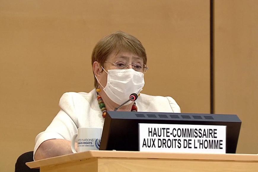 Michelle Bachelet : « Envoyer les voix critiques en prison ne mettra pas fin à la pandémie »