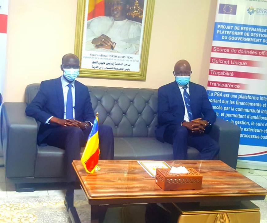 Tchad : le nouveau représentant du PNUD échange avec le ministre de l'Économie