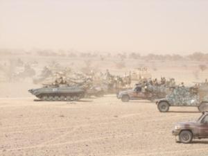 Manœuvres militaires tchadiennes au Mali. Crédits photos : Sources/journaliste