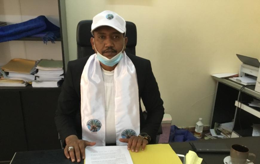 Hilal Abdelkader Abdramane, président de l'AJUDA. © Djimet Wiche/Alwihda Info