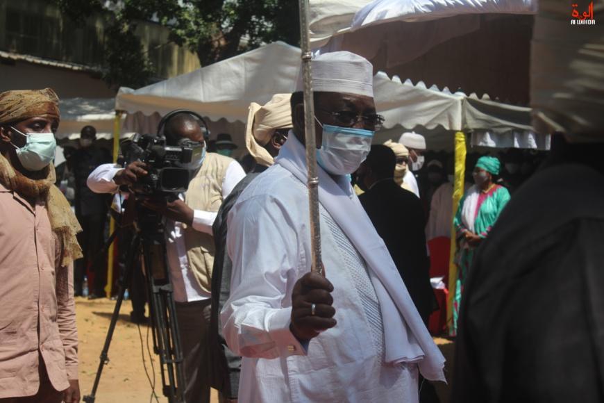 Le président Idriss Deby à Sarh, en novembre 2020. © Malick Mahamat/Alwihda Info