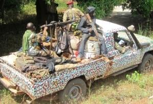 Des combattants de la Séléka. CENTRAFRIQUE. Crédits photos : Sources