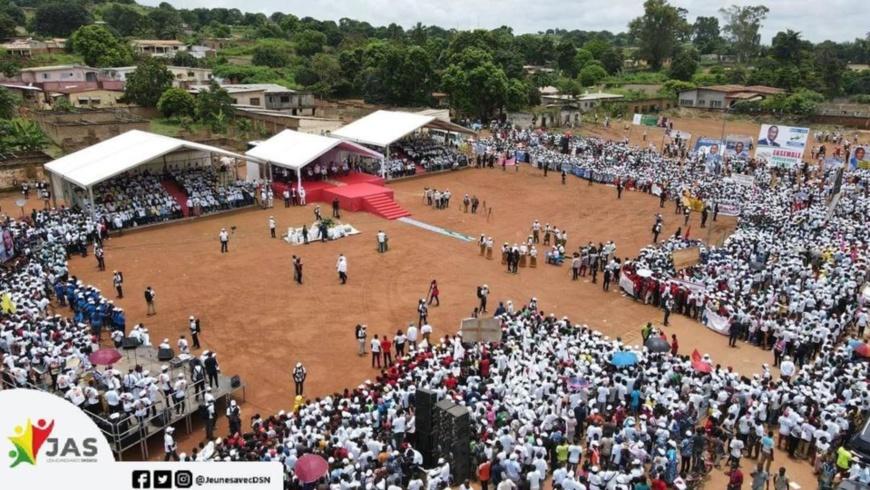 Le meeting du candidat Sassou à Ewo, dans la Cuvette-Ouest