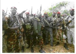 Les forces du FDPC d'Abdoulaye Miskine appelés à rejoindre l'Alliance. Avril 2013. Alwihda