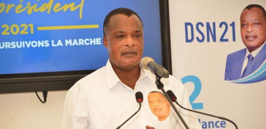 Sassou Guesso rendant hommage à Kolelas au cours de la conférence de presse