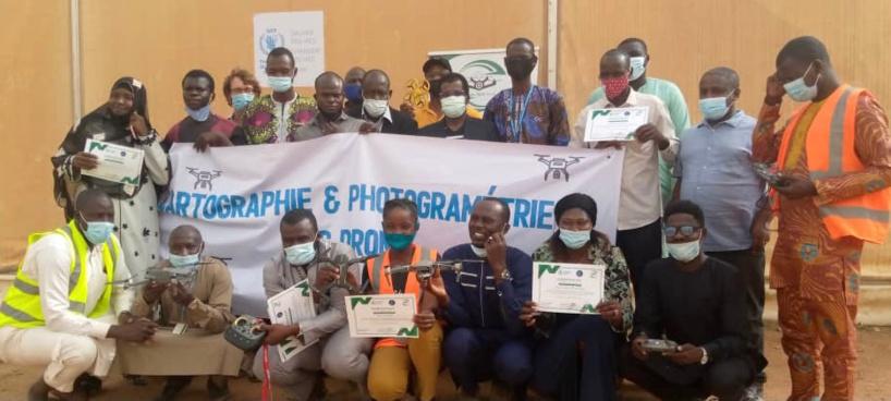 Tchad : clôture de la formation en cartographie et photogrammétrie par drone à Mongo