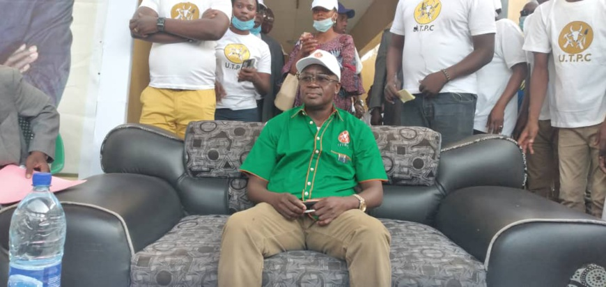 Le candidat à la présidentielle Yombombé Madjitoloum Théophile. © Malick Mahamat/Alwihda Info