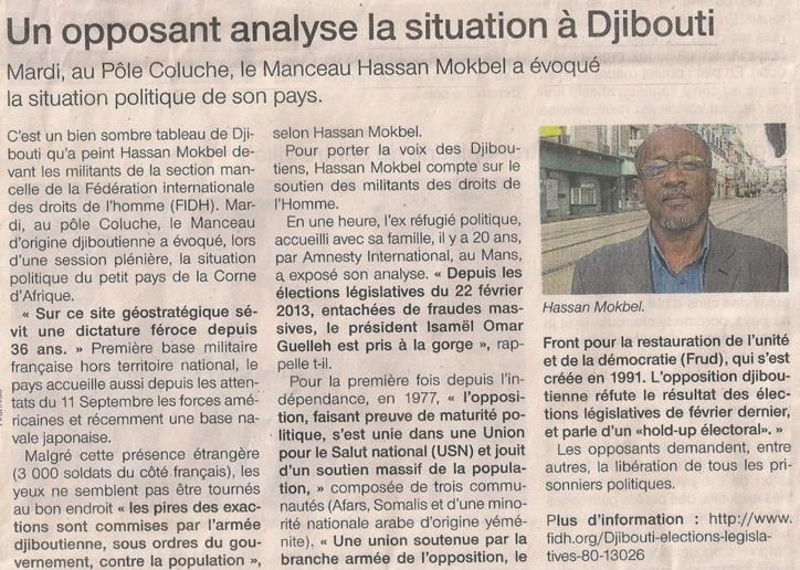 L'opposant Hassan Mokbel. Ouest France.