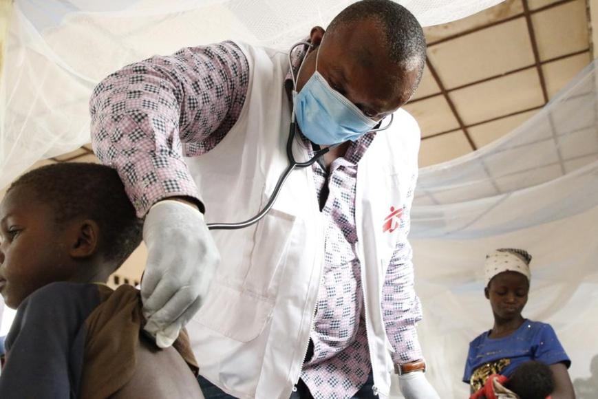 En RDC, la rougeole tue et gagne à nouveau du terrain. © MSF