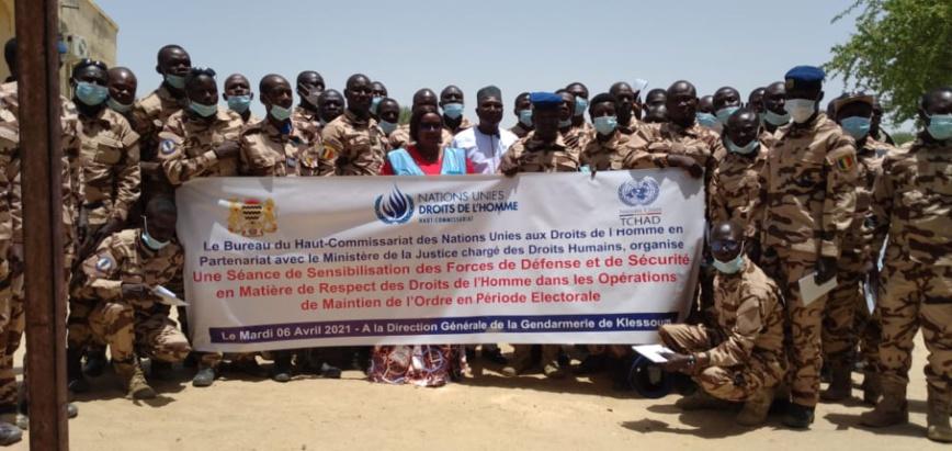Tchad : le HCDH sensibilise les gendarmes sur le respect des droits de l'Homme