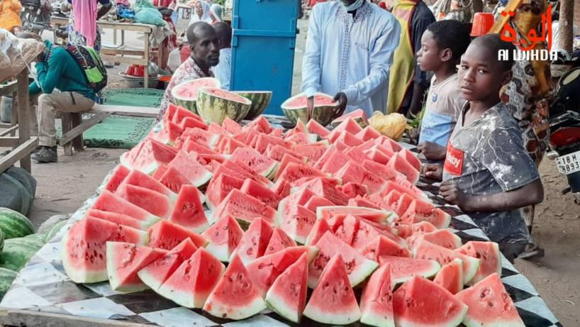 N'Djamena : la pastèque, l'un des fruits les plus consommés en période de Ramadan