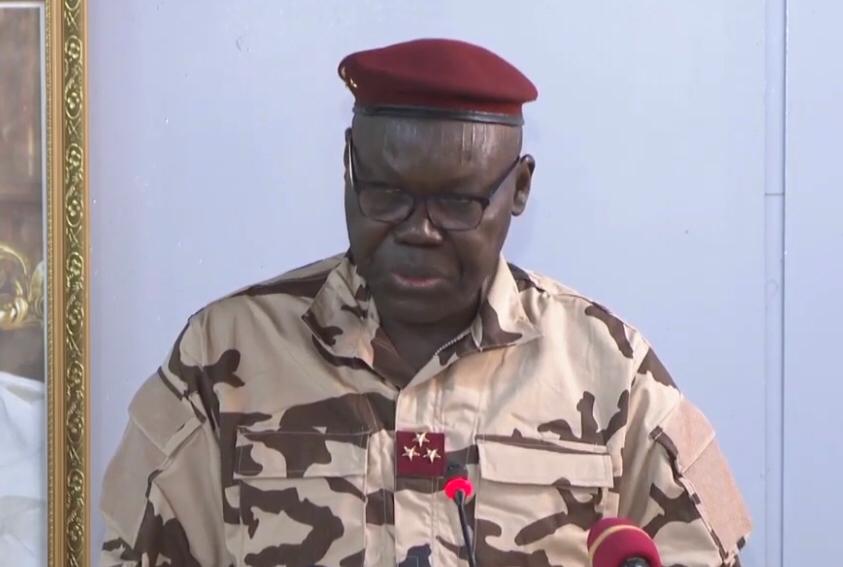 Le général Djimadoum Tiraïna, vice-président du Conseil militaire de transition.
