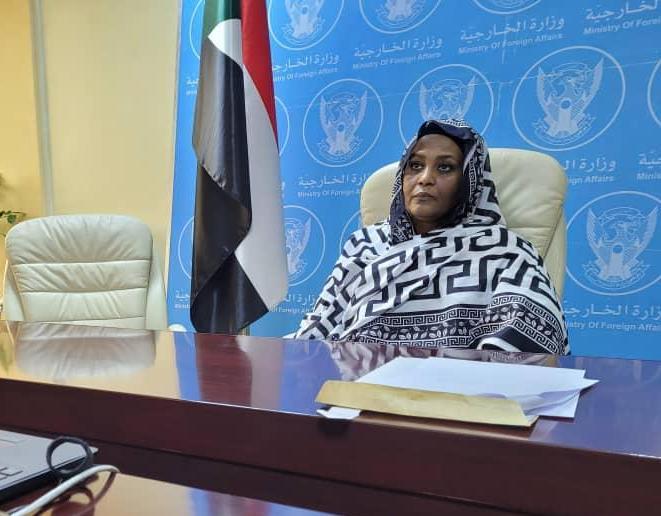La ministre soudanaise des Affaires étrangères. © Min.AE