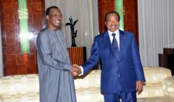 Les deux chefs d'Etat au Palais de l'Unité de Yaoundé. DR