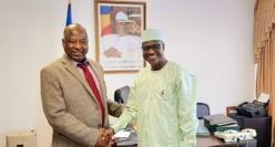 L'ambassadeur du Tchad en Russie le Dr Mahmoud Bashir (boubou), recevant le promoteur de l'AFBF, le Dr El-Hadi El-Sadd.