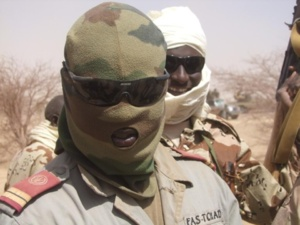 Le lieutnant Gorille des forces spéciales tchadiennes dans le Nord-Mali. Crédits photos : Abdelnasser Gorboa.