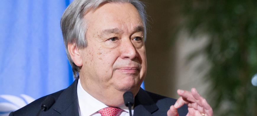 Le Secrétaire général de l'ONU, António Guterres (photo d'archives). Photo: ONU/Violaine Martin