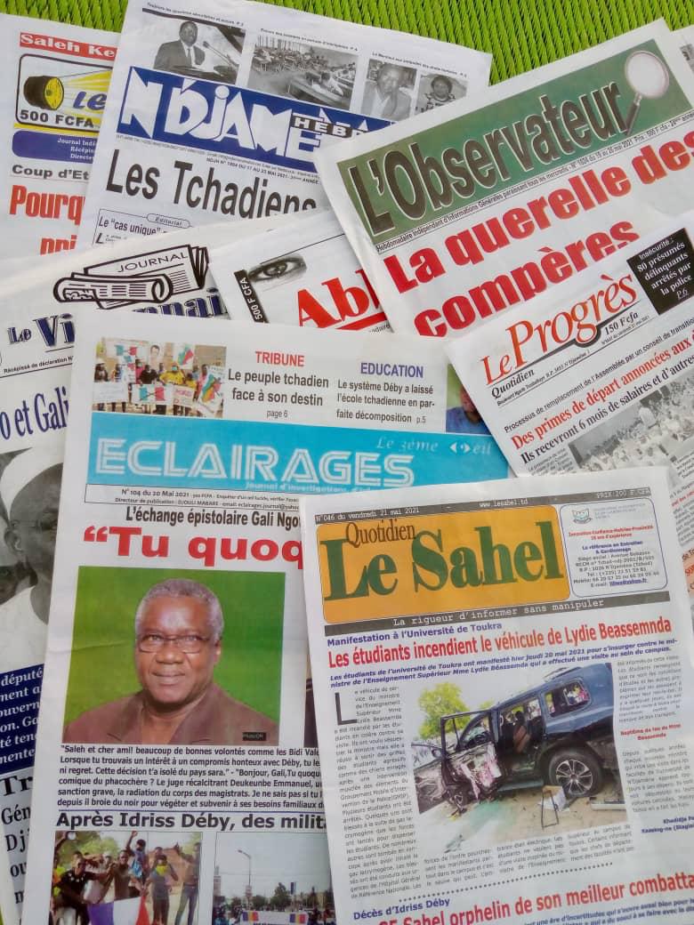 Tchad : la revue de la presse de la semaine du 7 au 13 juin 2021