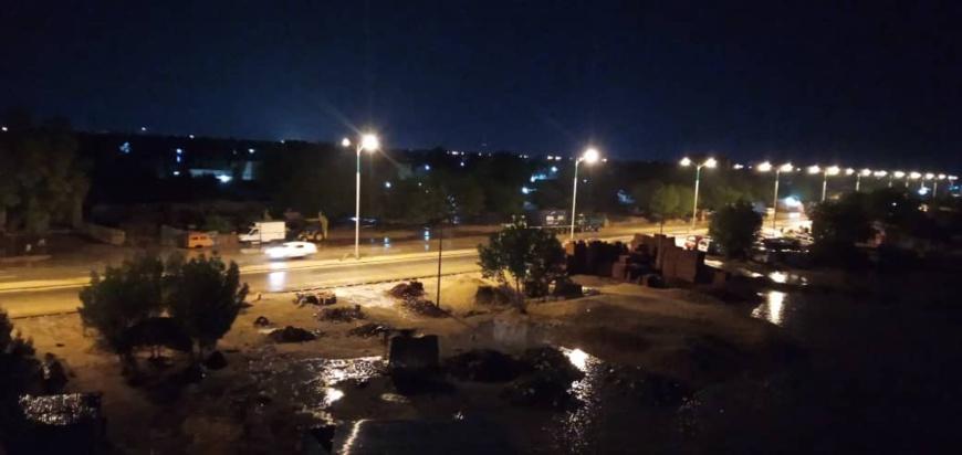 Un climat pluvieux en pleine nuit à N'Djamena. © Mahamat Abderaman Ali Kitire/Alwihda Info