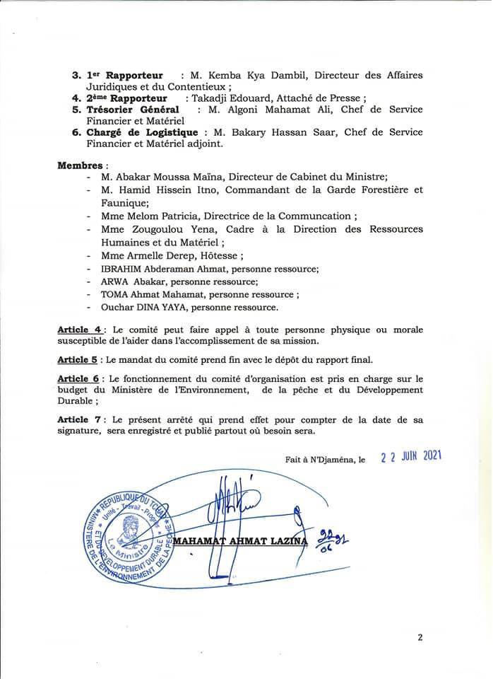 Tchad : une réflexion et un diagnostic sur la gouvernance environnementale en perspective