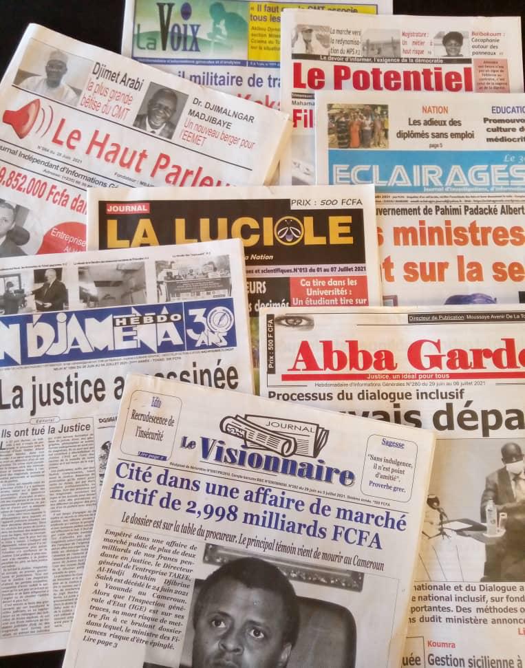 Tchad : la revue de la presse du 28 juin au 4 juillet 2021